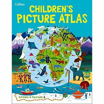 Collins Children's Picture Atlas - Hardcover NEW Collins Maps (A 2015-05-21