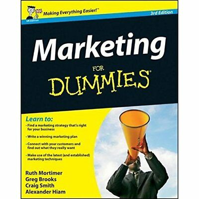Marketing For Dummies - Paperback NEW Mortimer, Ruth 2012-05-18