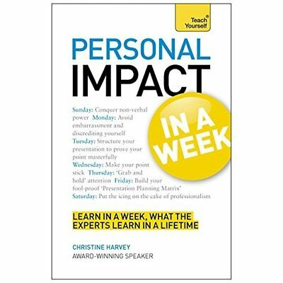 Teach Yourself Personal Impact at Work in a Week (Teach - Paperback NEW Christin