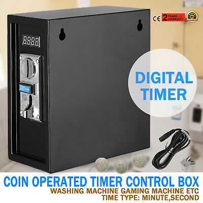 Coin Operated Timer Power Controlled Supply Box Device Digital Coin Time Meter