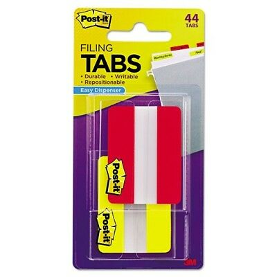 3M-Commercial Tape Div 6862RY File Tabs - Red & Yellow