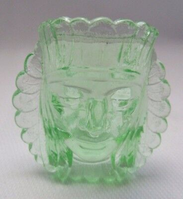 Boyd Glass  War Chief Toothpick  Or Ring Holder ( Peridot Green) Last Five Years