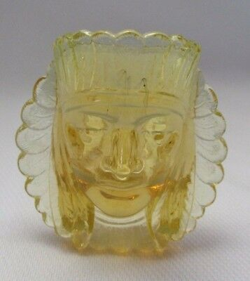 Boyd Glass War Chief Toothpick Ring Holder (Golden Yellow) Last Five Years Glows