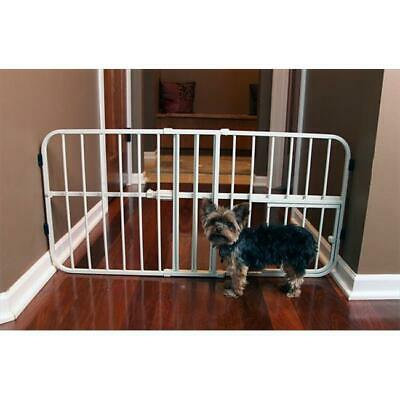 Carlson 0618DS Step Over Small Expandable Metal Pet Gate Beige