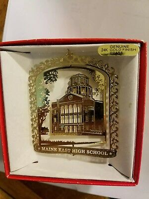 Maine East High School Park Ridge  Illinois Brass Christmas Ornament