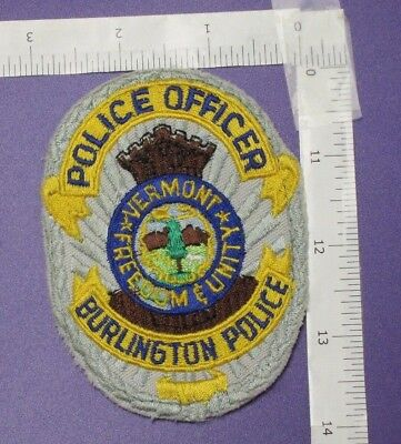 Burlington Vermont Police Department Shoulder Patch