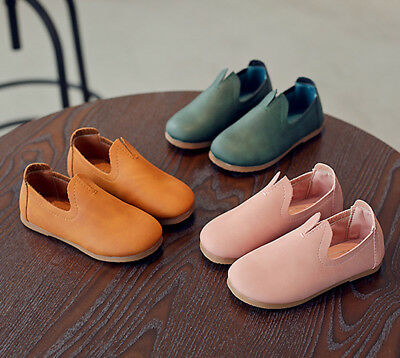 Child Kids Baby Girl Soft Leather Shoes Moccasins Sneakers Anti-slip Prewalkers