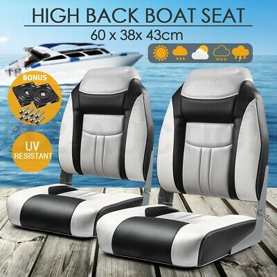 OGL 2 x All weather Folding Boat Seats Swivel Marine Seating Fishing Chairs Set