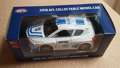 North Melbourne Kangaroos 2018 AFL Official Collectable Model Car New Imperfect