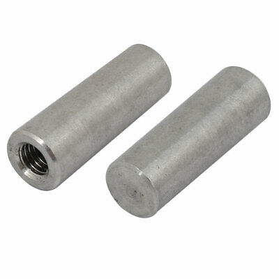 2Pcs 304 Stainless Steel 10mm Nominal Dia 30mm Length M6 Female Thread Taper Pin