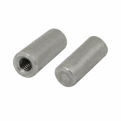 2Pcs 304 Stainless Steel 10mm Nominal Dia 25mm Length M6 Female Thread Taper Pin