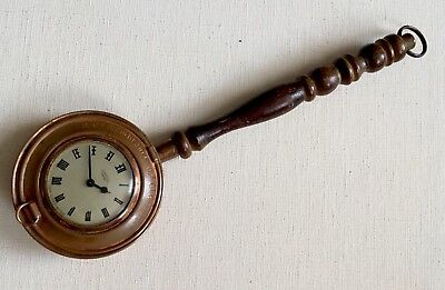 Vintage Copper Smiths Empire Mechanical Wind Up Clock Wall Clock