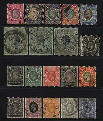 East Africa Uganda Collection KEVII / KGV Values Used