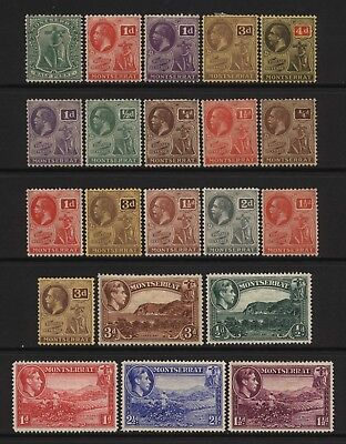 Montserrat Collection 21 Early Stamps Mounted Mint