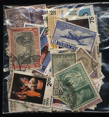 India Bag 140 Stamps Used