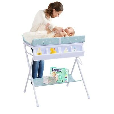 Infants Baby Portable Bath Diaper Storage Organizer Changing Table With Tube