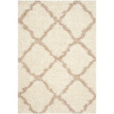 Safavieh Dallas Shag Collection 8 x 10 Foot Indoor Carpet Area Rug, Ivory/Beige