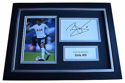 28182193113 Dele Alli SIGNED A4 FRAMED Autograph Photo Display Tottenham Hotspur  Football