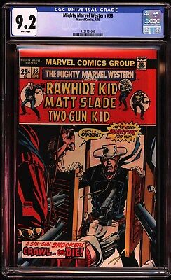 Mighty Marvel Western #38 CGC 9.2 White Pages, 2nd Highest Graded!