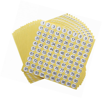 dealzEpic - Number Stickers - 1 to 100 Round Self Adhesive Stickers | Inventory/