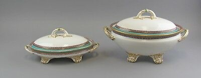 19th Century Royal Worcester for Tiffany&Co Soup Tureen & Covered Vegetable Bowl