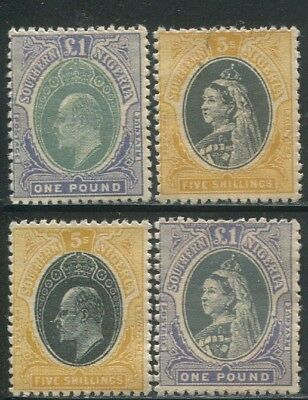 4 Southern Nigeria 1900~1902 High Value stamps Full Gum High Quality REPLICA