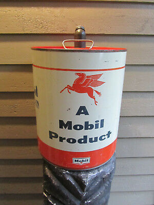 Vintage Mobiloil Pegasus Oil Can Advertising Outboard Boat Motor SAE30 5 Gallon
