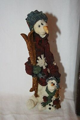 Boyd's Bears The Folkstone Collection Snowman with Skis Jean Claude and Jacques