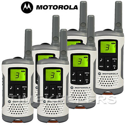 6Km Motorola TLKR T50 Walkie Talkie 2 Two Way PMR 446 Compact Radio Six Pack