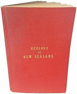 1864 Hochstetter - NEW ZEALAND GEOLOGY- EARLY MAPPING - Rare New Zealand Imprint