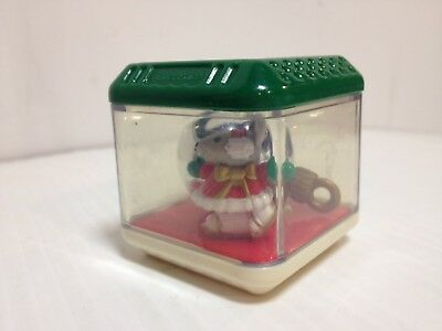 Fisher Price Christmas Mouse Ornament Peek A Block