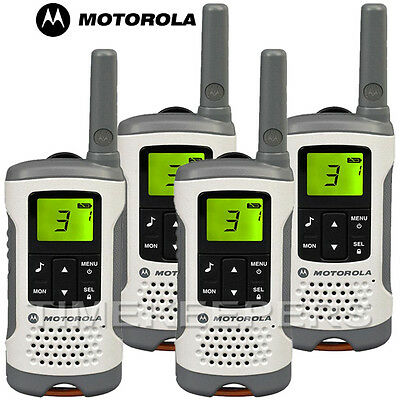 6Km Motorola TLKR T50 Walkie Talkie 2 Two Way PMR 446 Compact Radio Quad Set