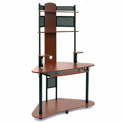 Studio Designs Home Office Furniture Arch Tower Computer Desk, Black and Cherry