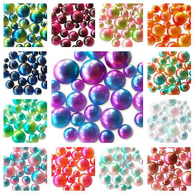 20g Gradient Ombre Mermaid Half Flatback Pearls for Decoden Embellishment Craft