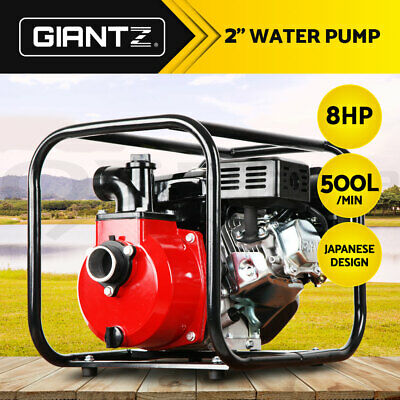 "Giantz 8HP 2"" Petrol High Flow Water Transfer Pump Fire Fighting Irrigation"
