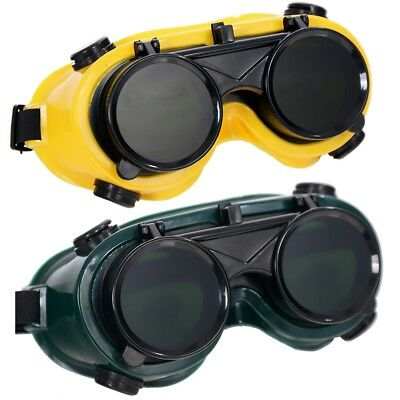 Welding Goggles With Flip Up Glasses for Cutting Grinding Oxy Acetilene torch SA