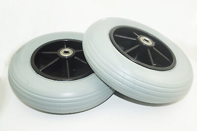 """1 pair of 8"""" Front Castor Wheels for many Standard Wheelchairs 200x50mm"""