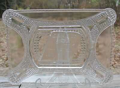 Antique Curtain Tie Back Tray Early American Pattern Glass Adams & Co