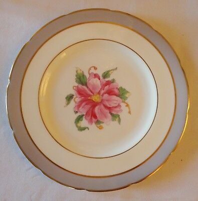 COALPORT  lot of 4 Salad   Plate TOMORROW large pink flower gold rims