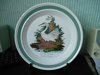 Portmeirion ' Birds of britain '  Little Egret   10in  plate Made in England