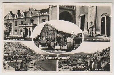 Gibraltar postcard - Multiview showing 5 different scenes - RP - P/U