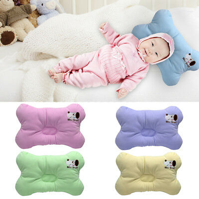 Organic Cotton Flat Head Cushion Infant Toddler Newborn Pillow Fit 0-9month Baby