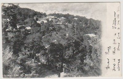 India postcard - General View of Kasauli Hill