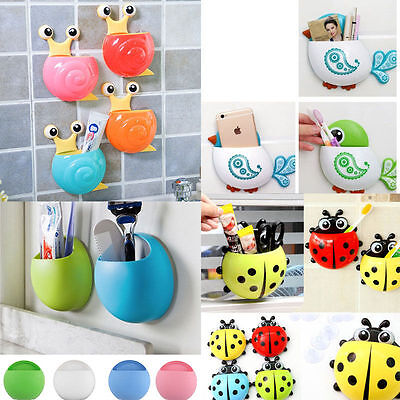 Cute Funny Cartoon Animal Ladybug Sucker Suction Hook Tooth Brush Holder PS
