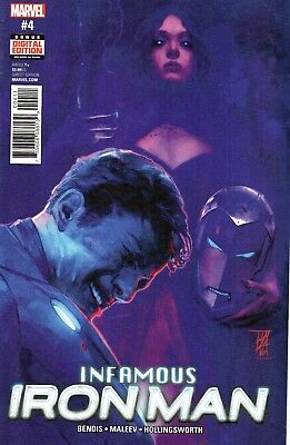 Infamous Iron Man Comic 4 Marvel 2017 Bendis Maleev Hollingsworth