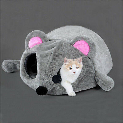 Cartoon Mouse Cat Cave Dog Pet House Cushion Nest Soft Mat Sleeping Bed Igloo