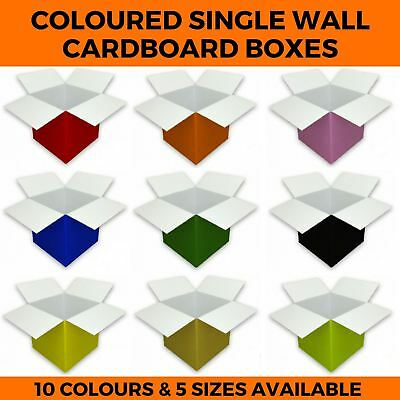 Quality Single Wall Coloured Cardboard Boxes - Postal Mailing Packaging Cartons