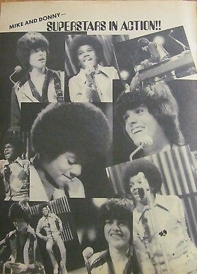 Donny Osmond, Full Page Vintage Clipping, Osmonds Brothers, Michael Jackson