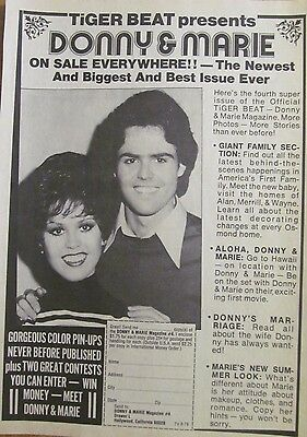 Osmonds, Full Page Promotional Ad, Donny and Marie Osmond, Magazine