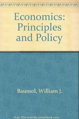 Economics: Principles and Policy by Baumol, William J. Hardback Book The Cheap
